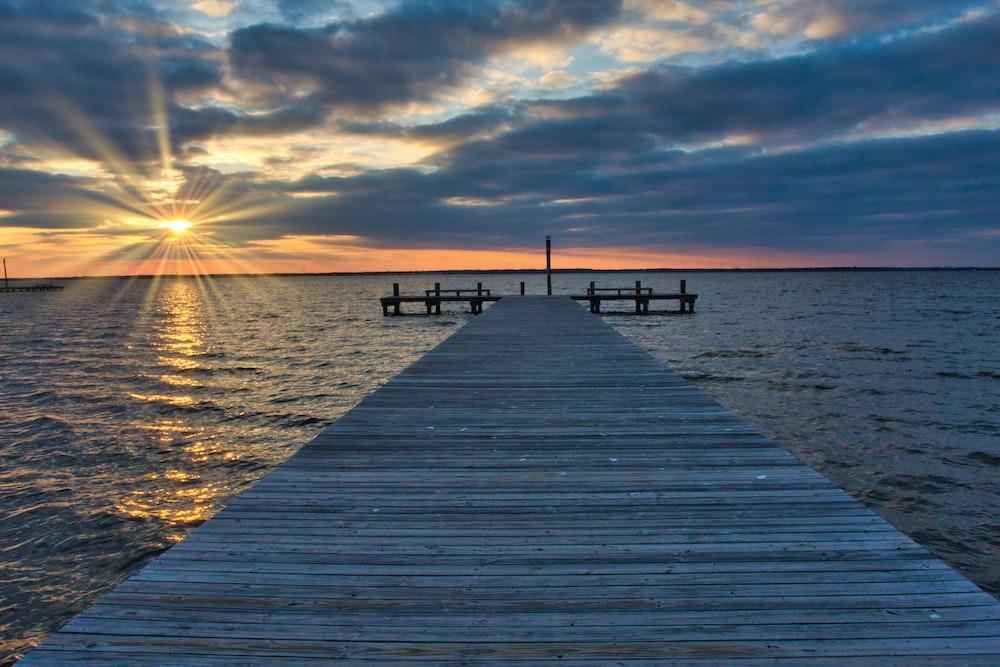 grey dock during daytime