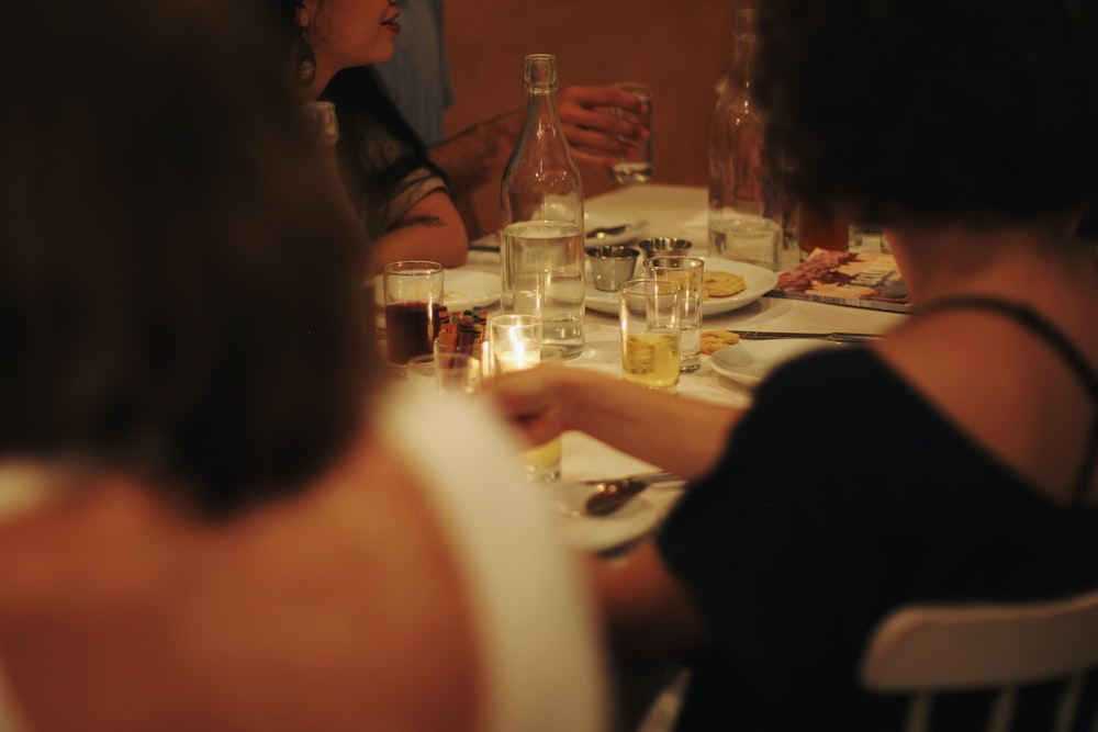 people eating at table