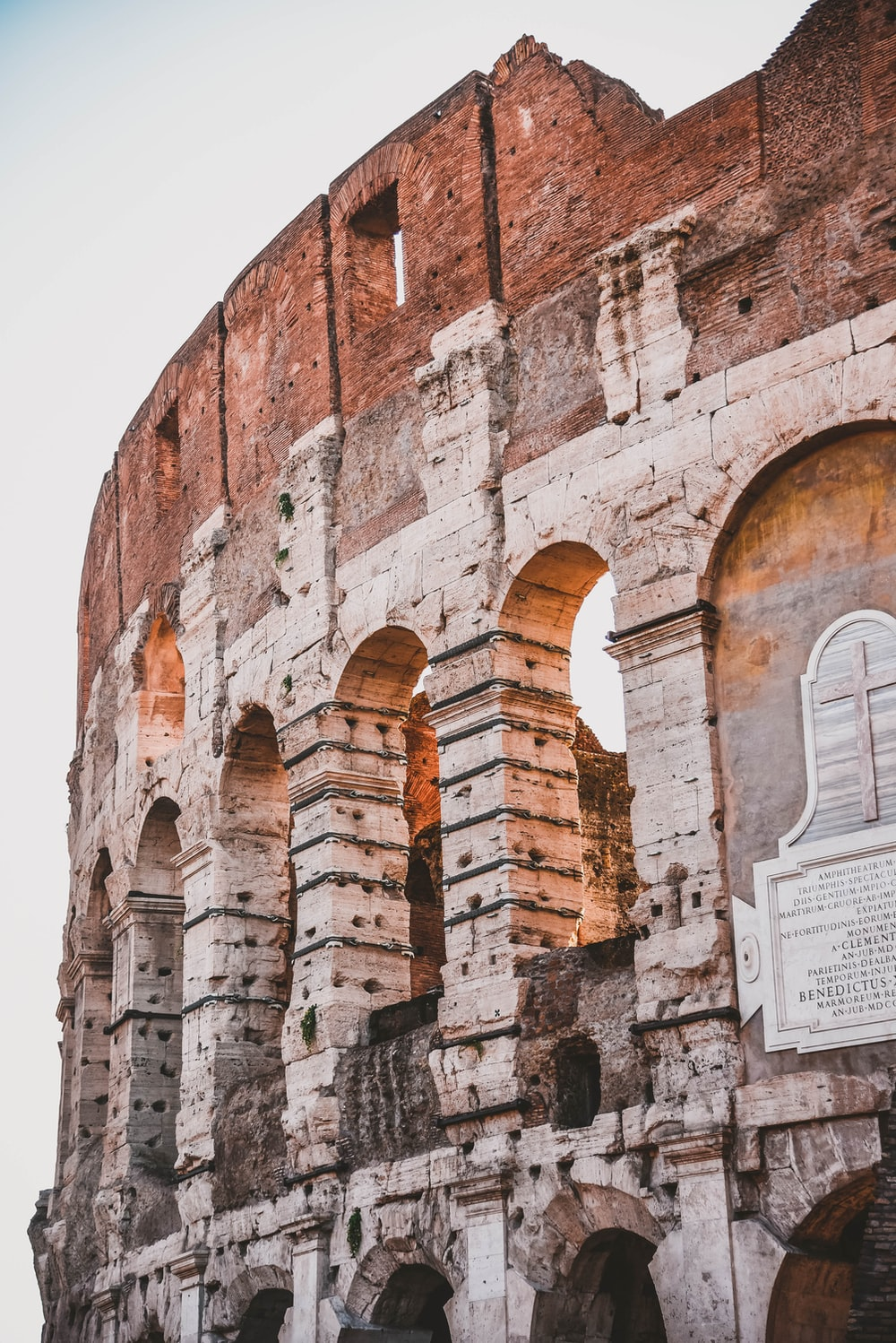 view of Colosseum at Rome Italy