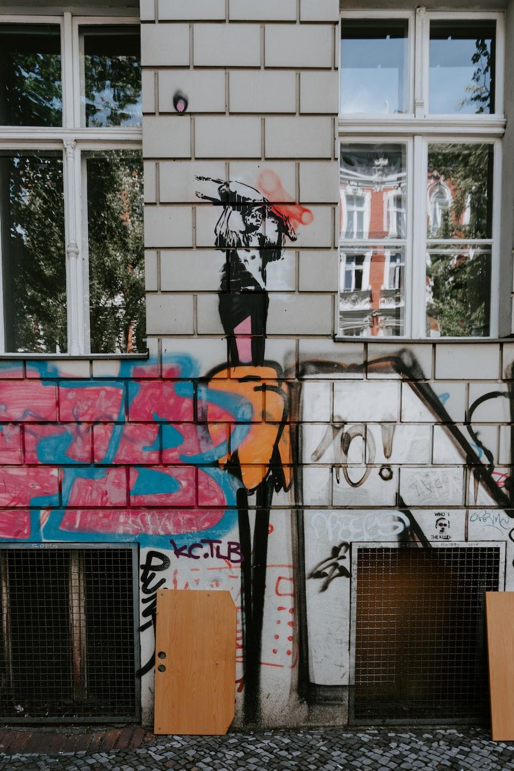 pink and blue fb grafiti