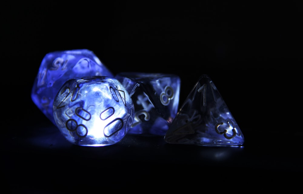 purple and clear stones