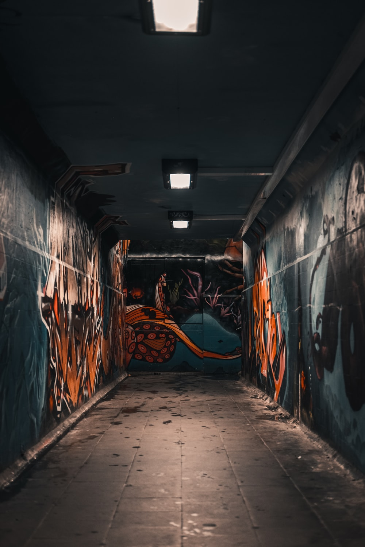 orange and black grafiti