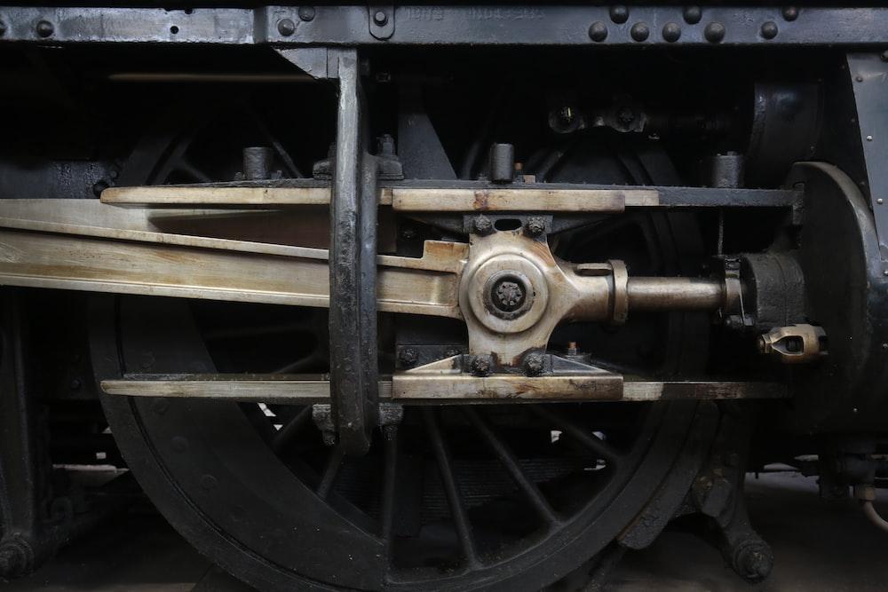 brass-colored machine