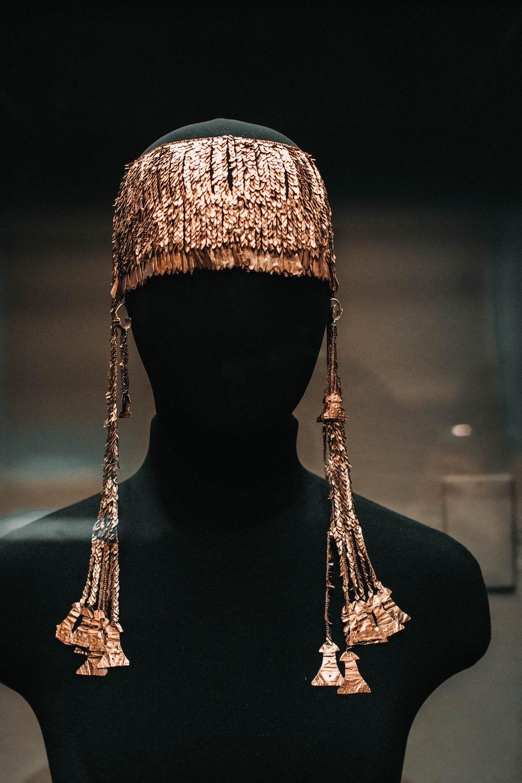 human gold headdress