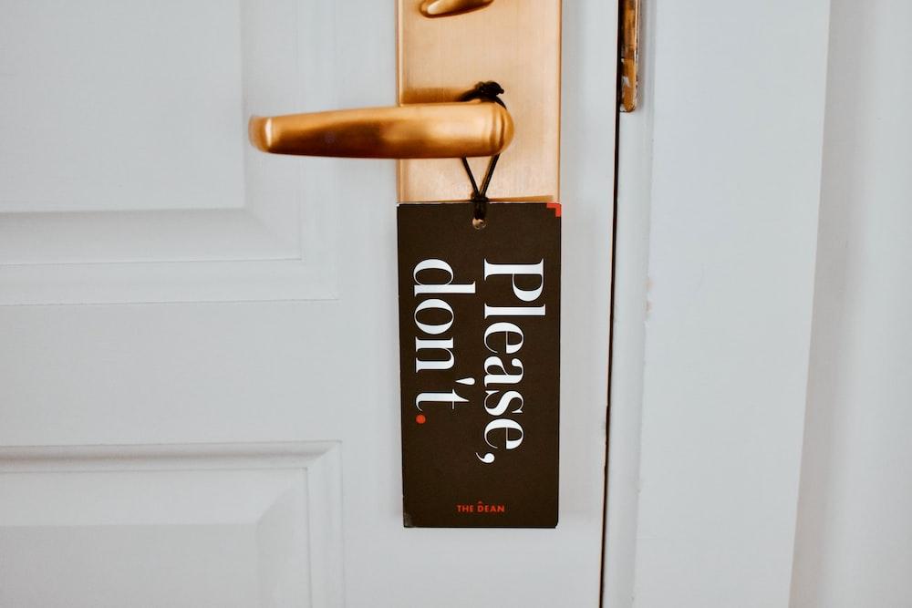 gold door lever