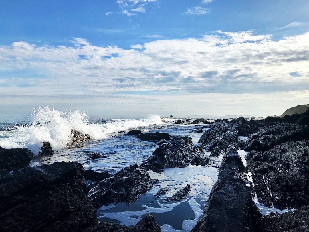 Morning ocean waves