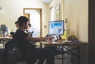 man using monitor