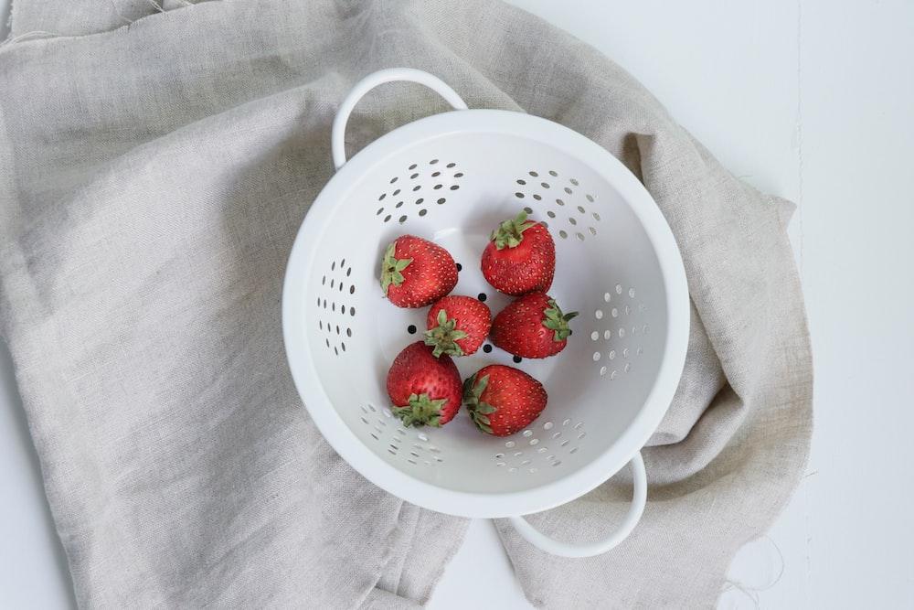 strawberries on basket