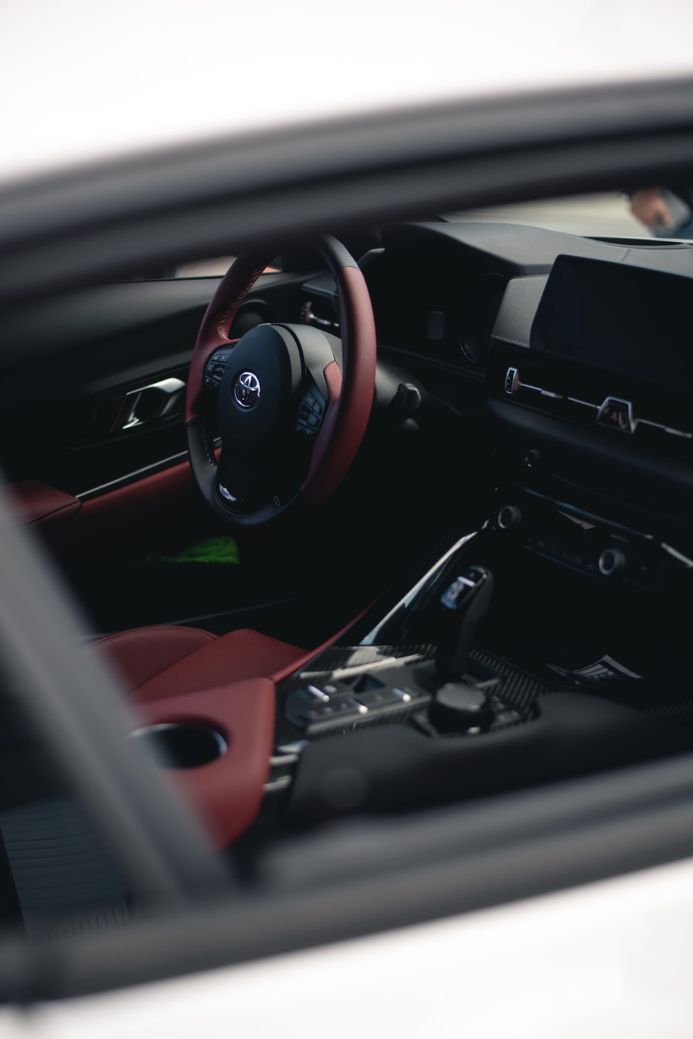 black and red Toyota interior