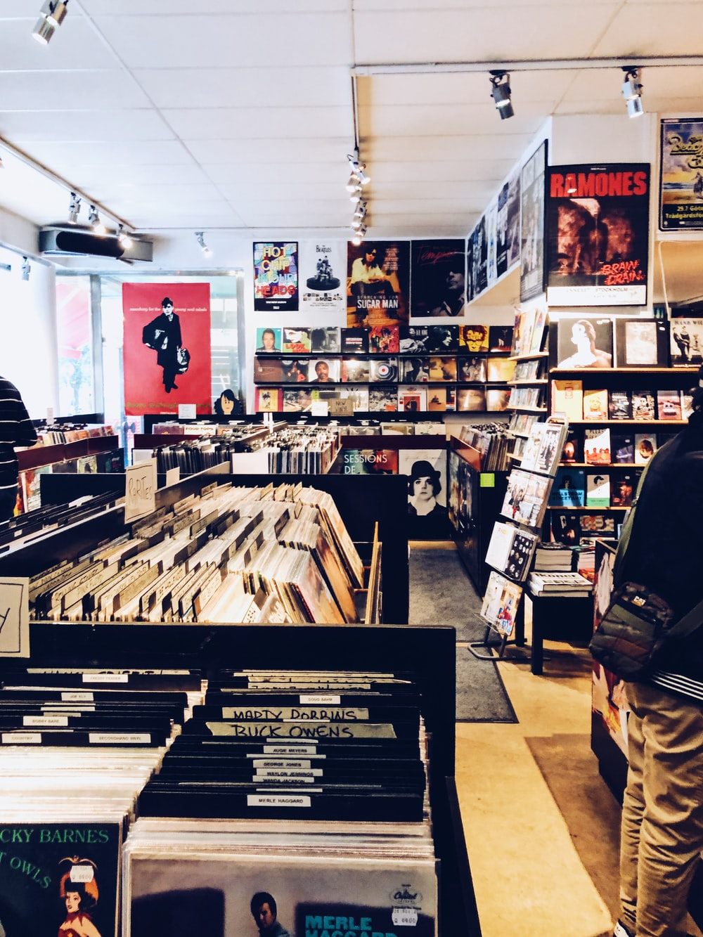 record sleeve collection in store