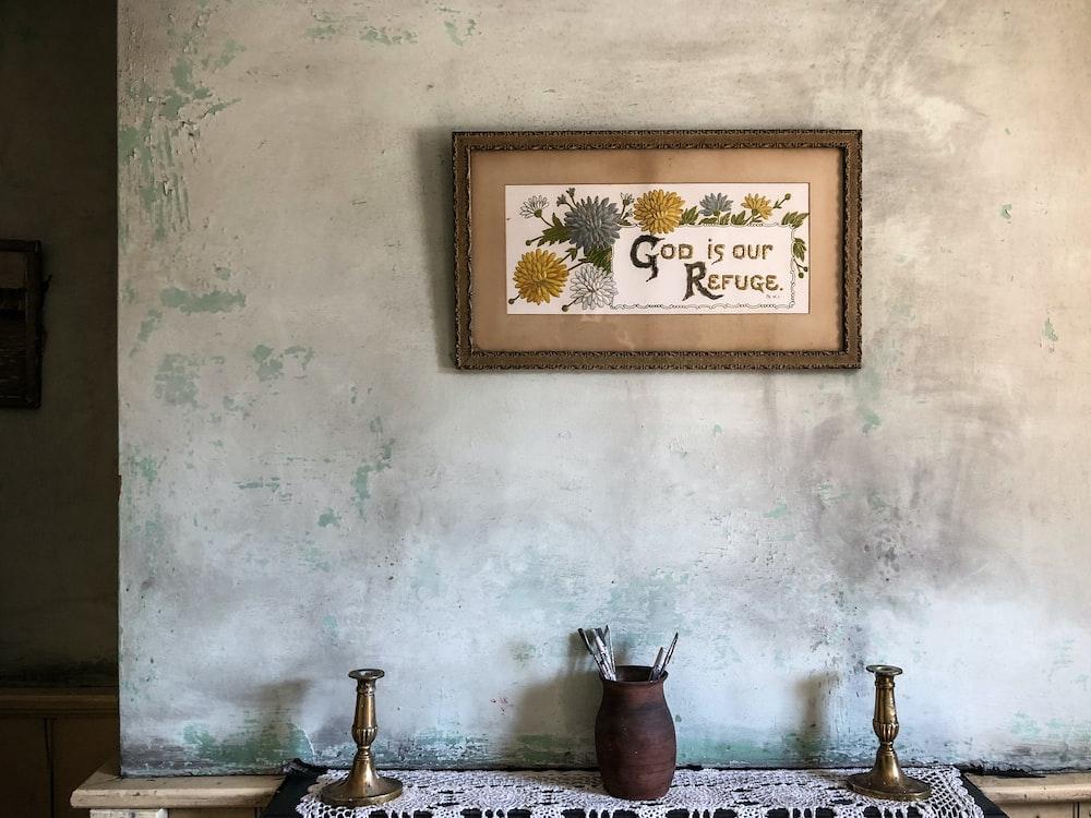 text printed wall decor