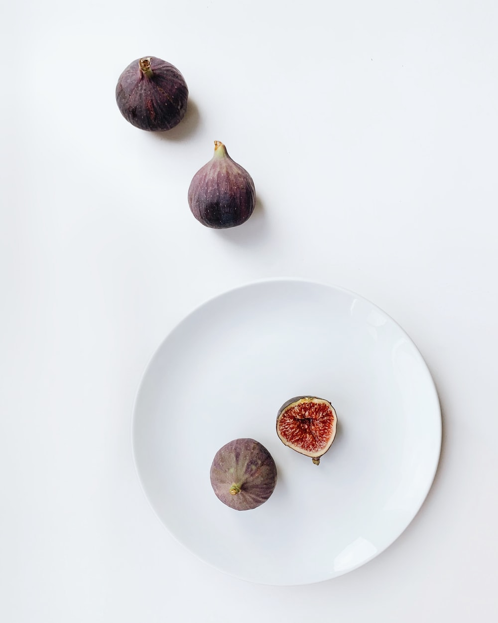 four brown fruits
