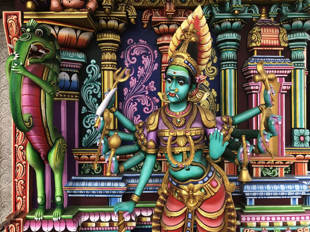 Indian deity wall painting