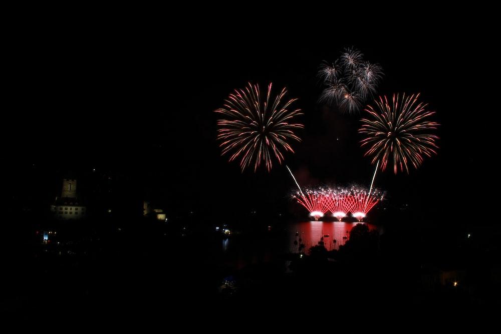 firework display during nighttime