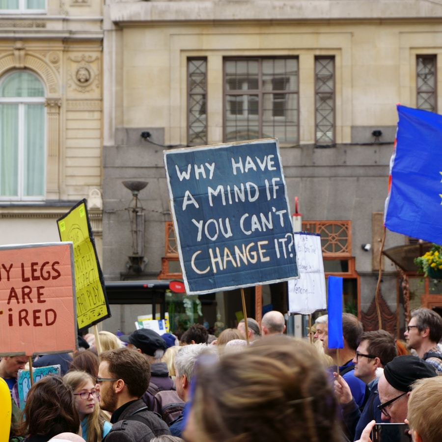 London, March 2019. Stop Brexit March. My Legs Are Tired.