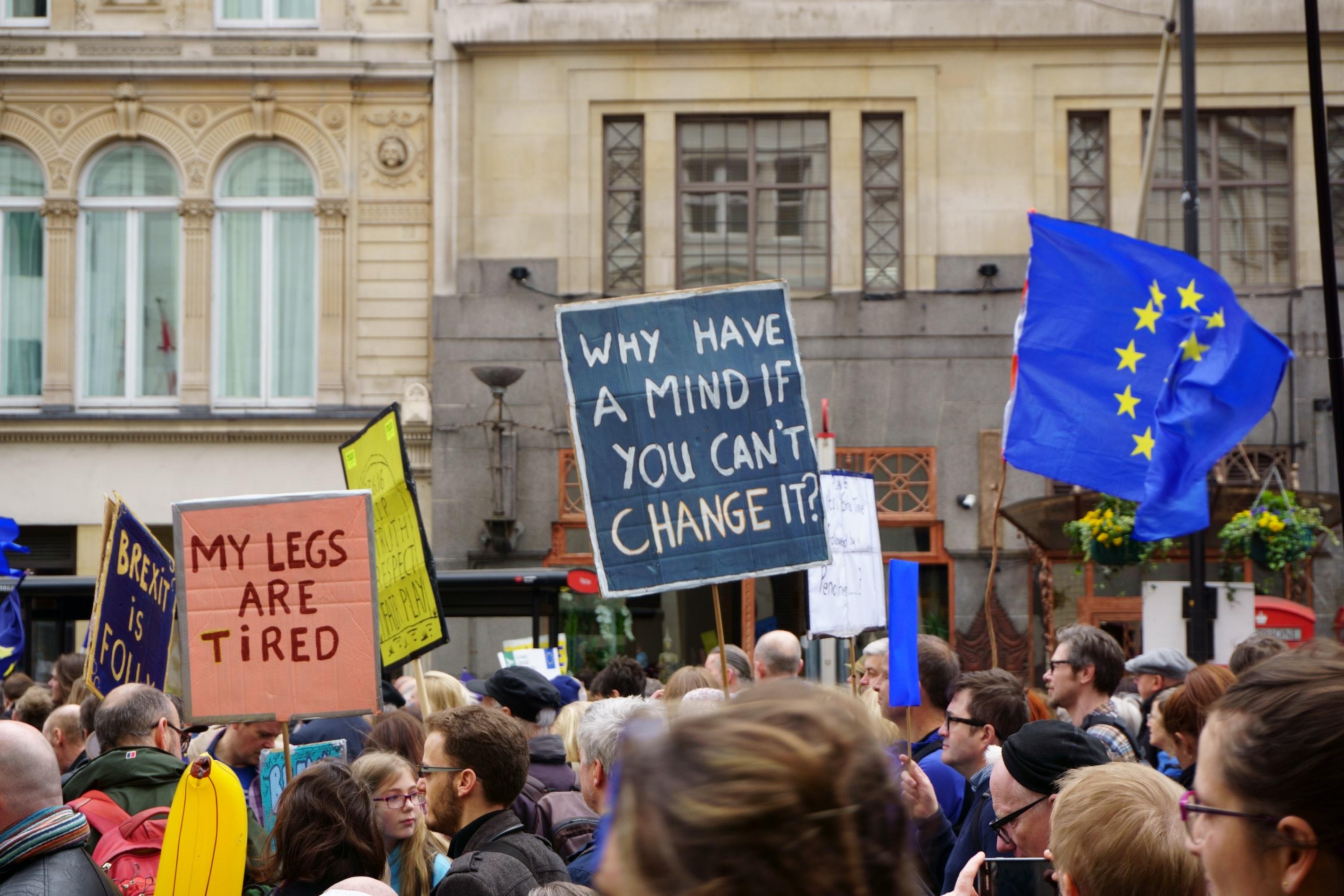 Protestujący przeciwko Brexitowi