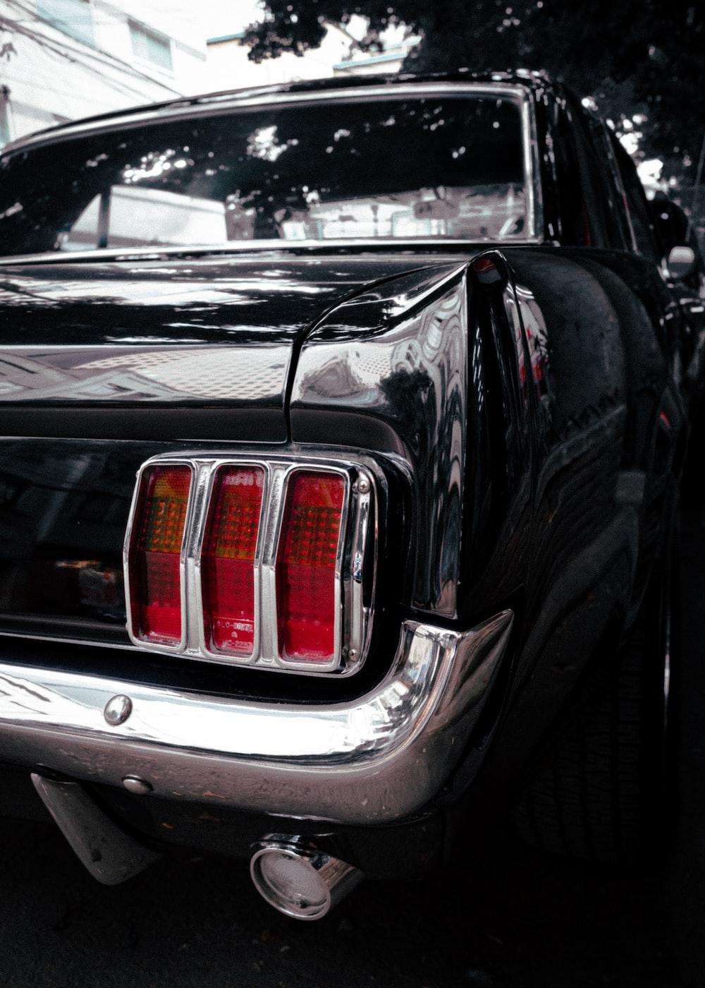 black classic car taillight