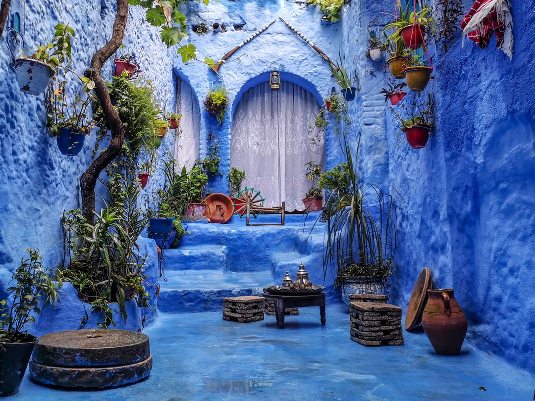 Shot after the rain in the beautiful city of Chefchaouen, Morocco.