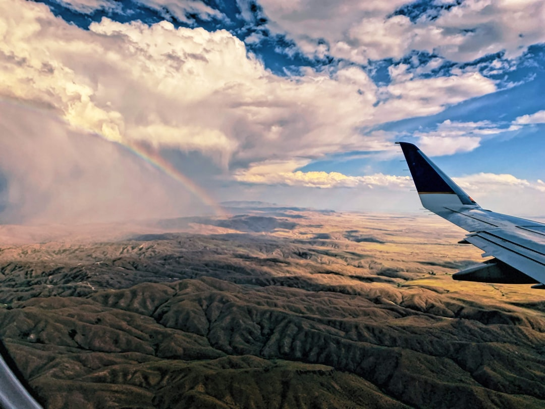 Flying into Boise ID on a warm July evening.  I was able to get this shot of the rainbow from the plane.