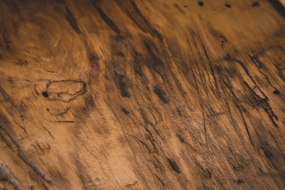 black and brown wooden surface