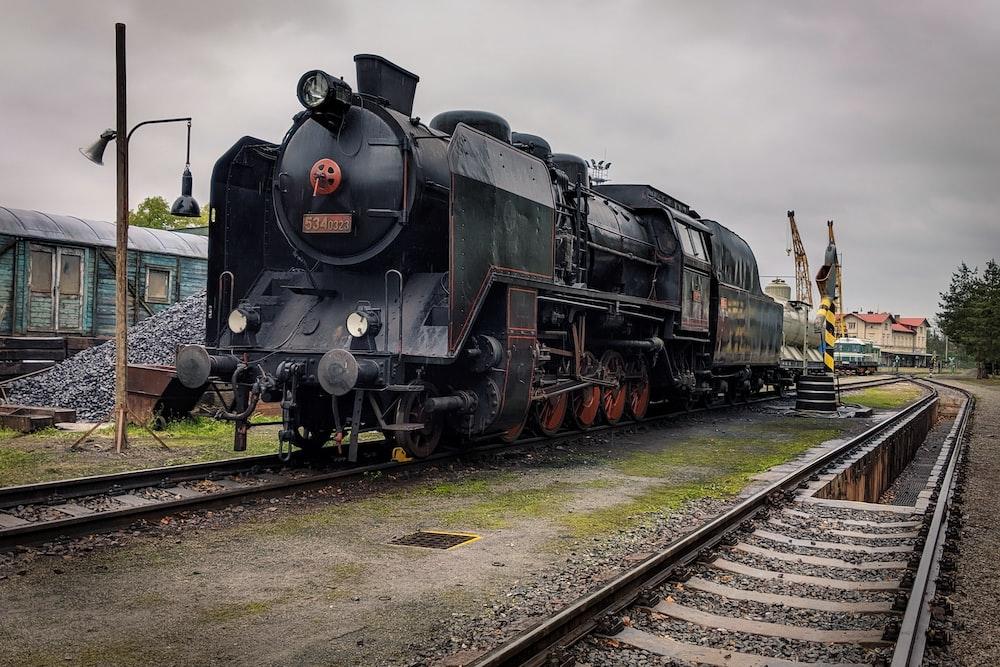 black train during daytime