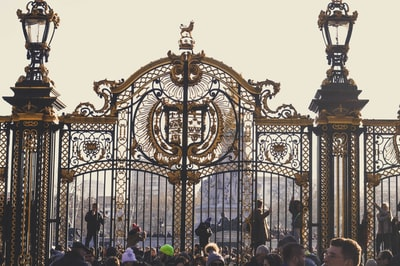 Palace gates in London