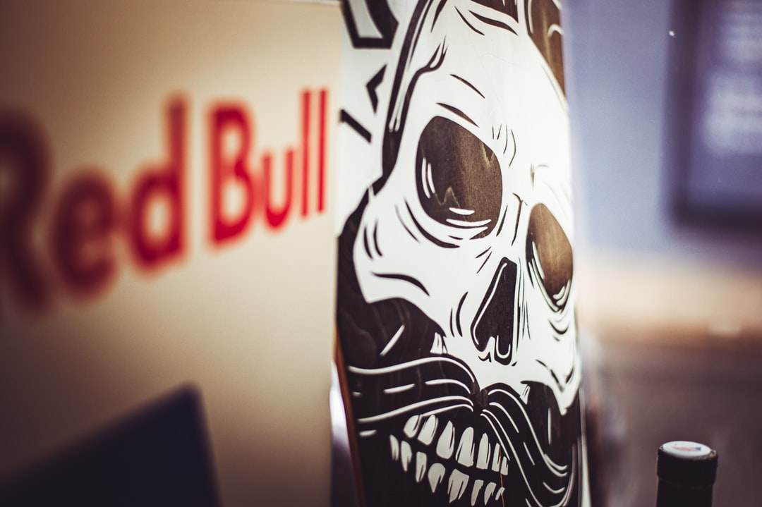 Red Bull and Scull on the skateboard