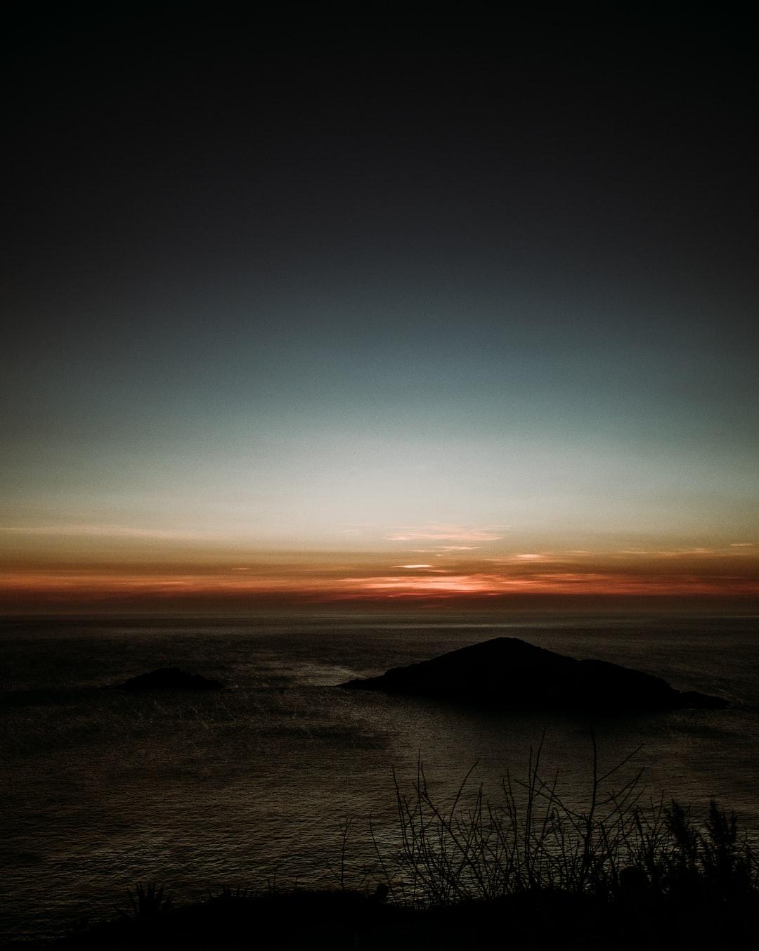 sunset at pontal do atalaia, rio
