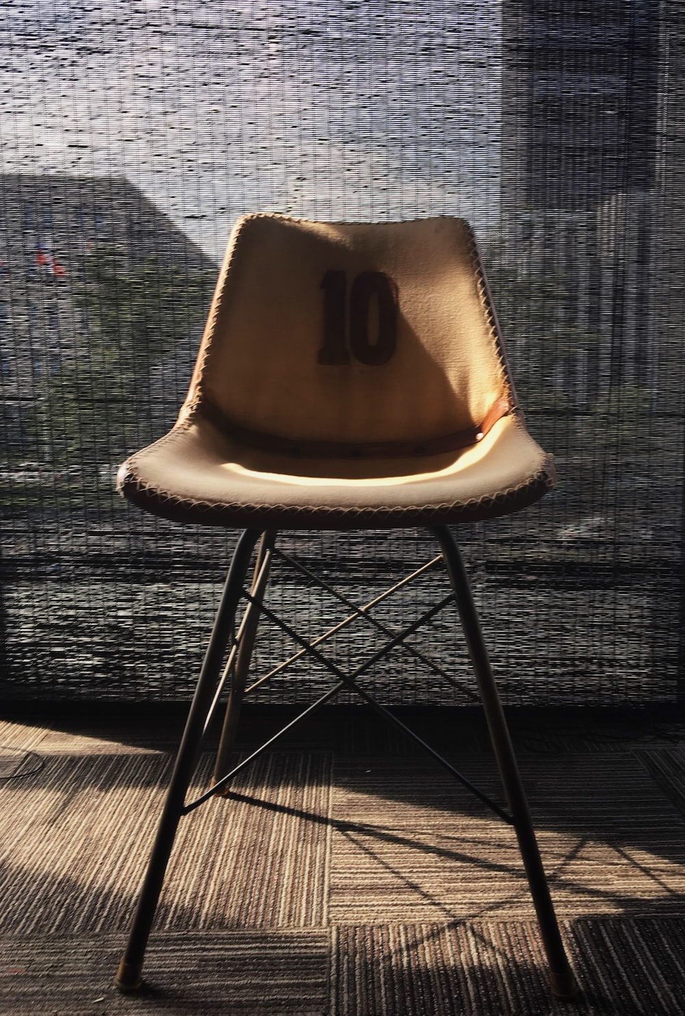 brown padded chair