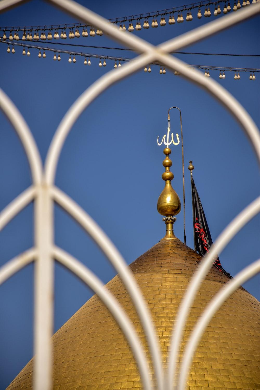 gold dome top castle