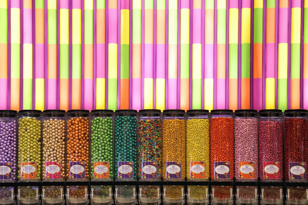 jar of candies lot