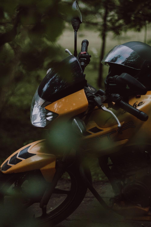 yellow motorcycle