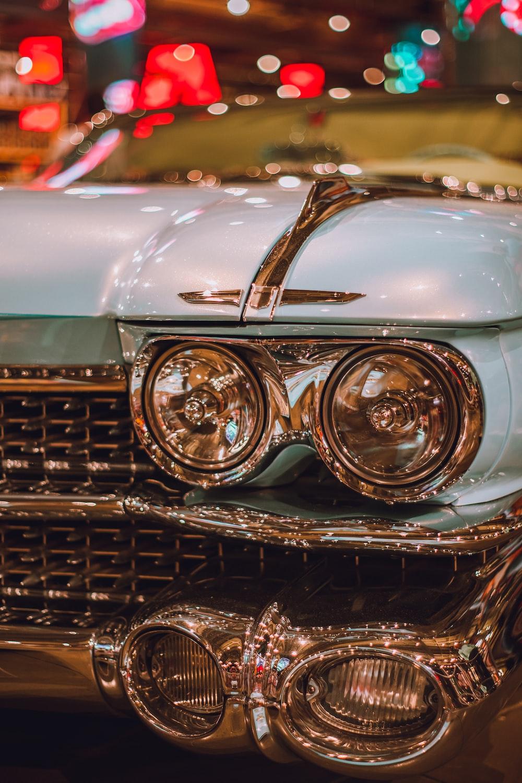 blue vehicle close-up photography