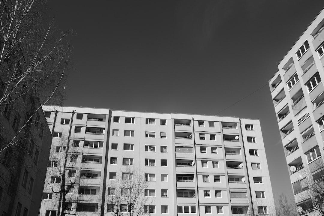 Block of flats in the suburbia. Salzburg city, district Lehen, Austria.