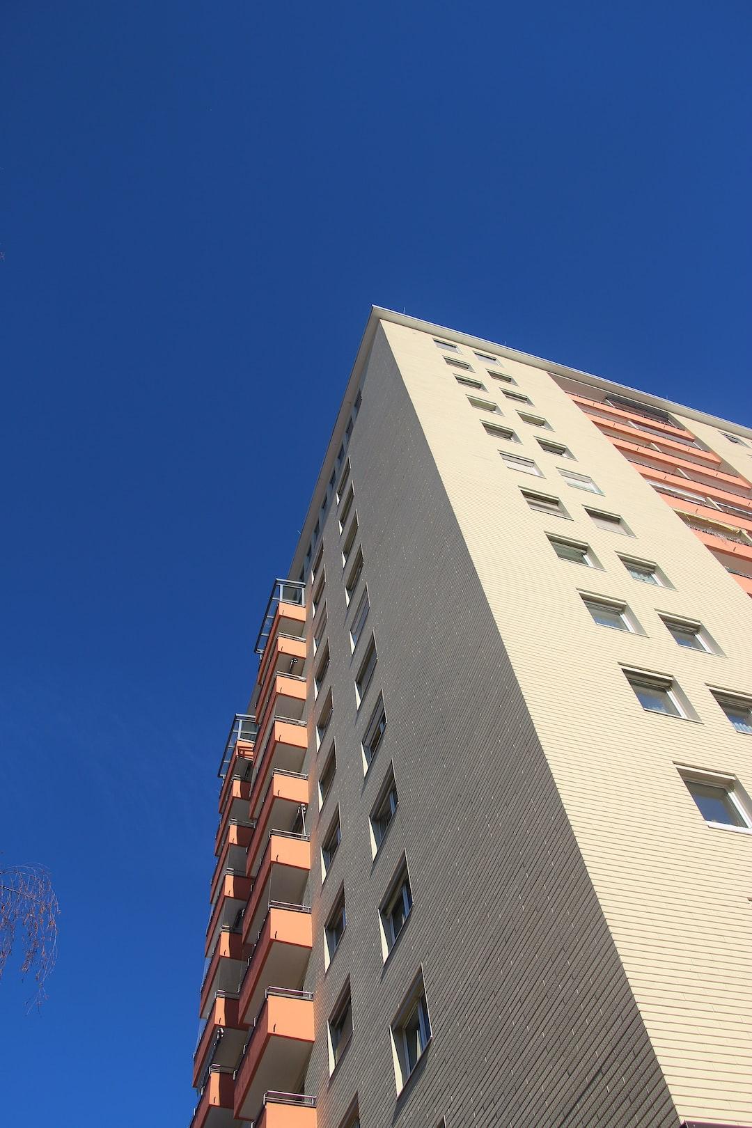 Block of flats in the suburbia. Salzburg city, district Lehen, Austria, Europe.