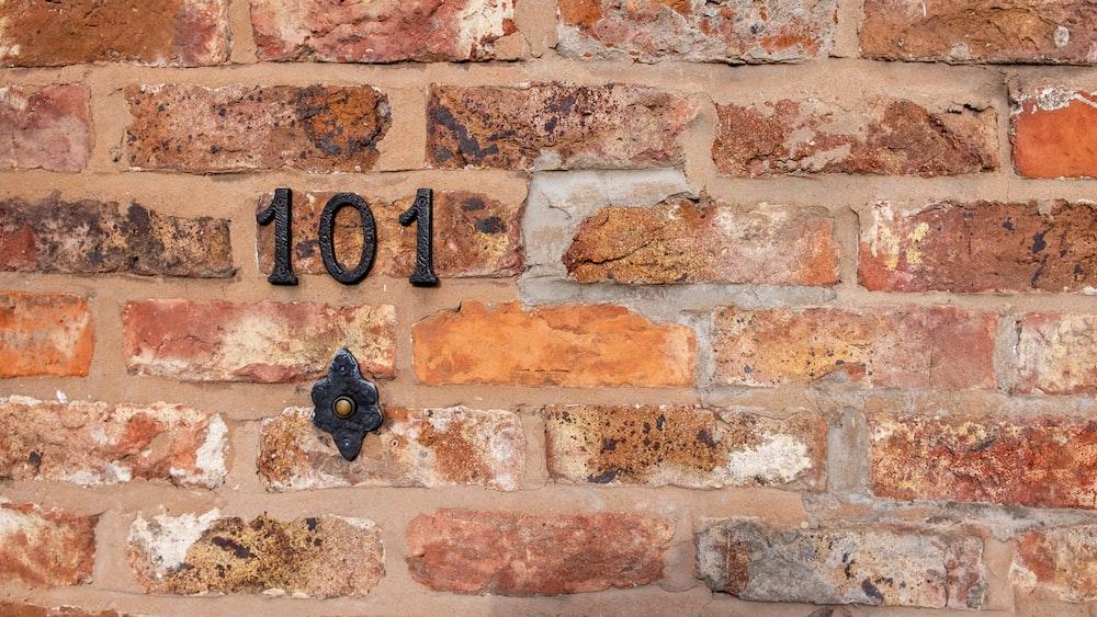 101 wall signage