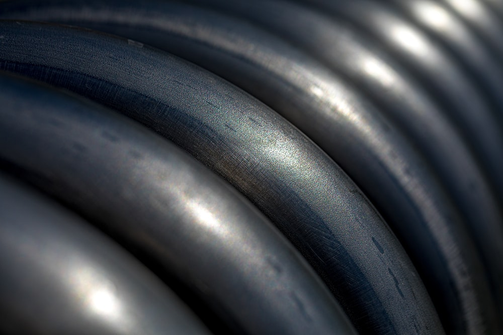 grey steel close-up photography