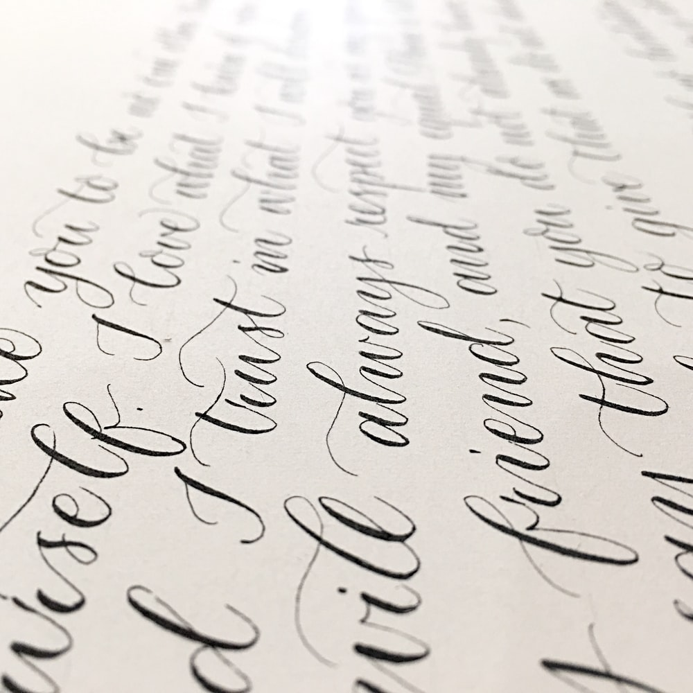 closeup photo of black and white printing paper