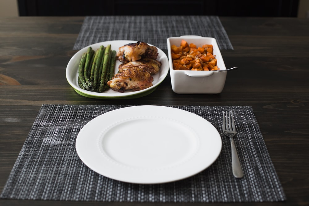 cooked foods in plate