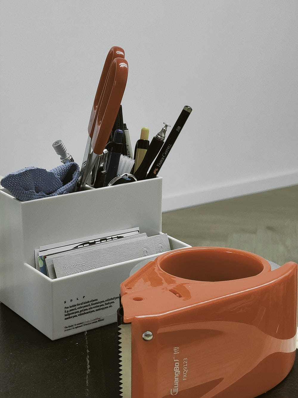 white box with utensils close-up photography