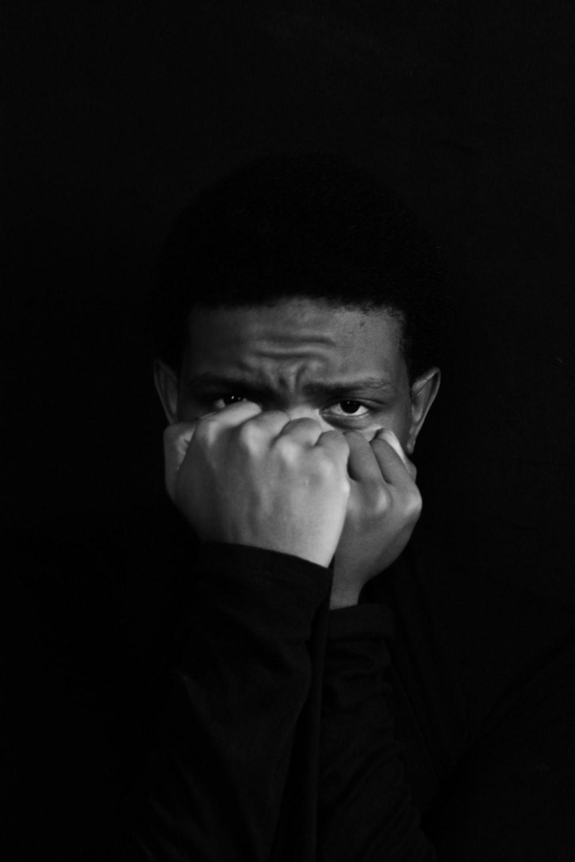 man in black sweater