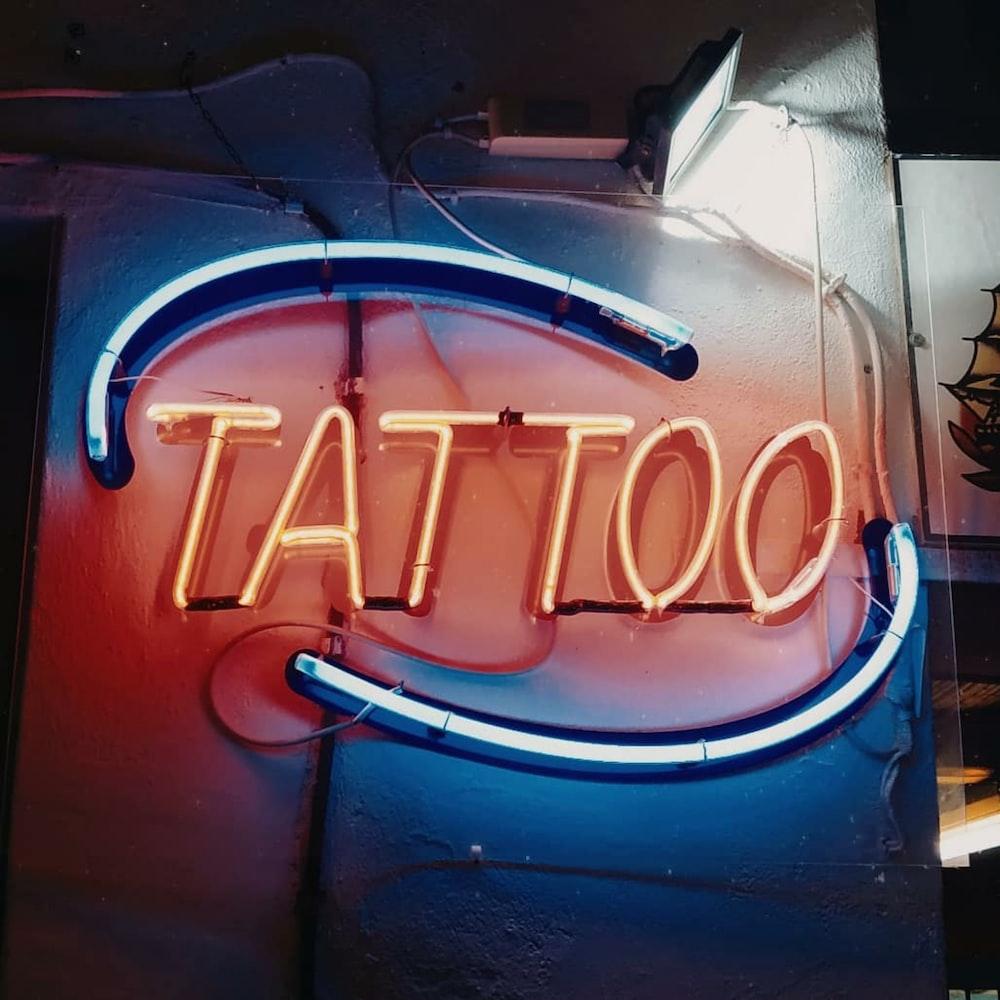 Tattoo light sign close-up photography