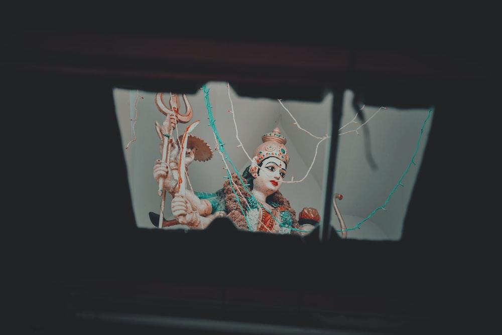 Lord Shiva ceramic figurine