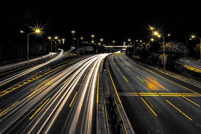 highway at night highway teams background