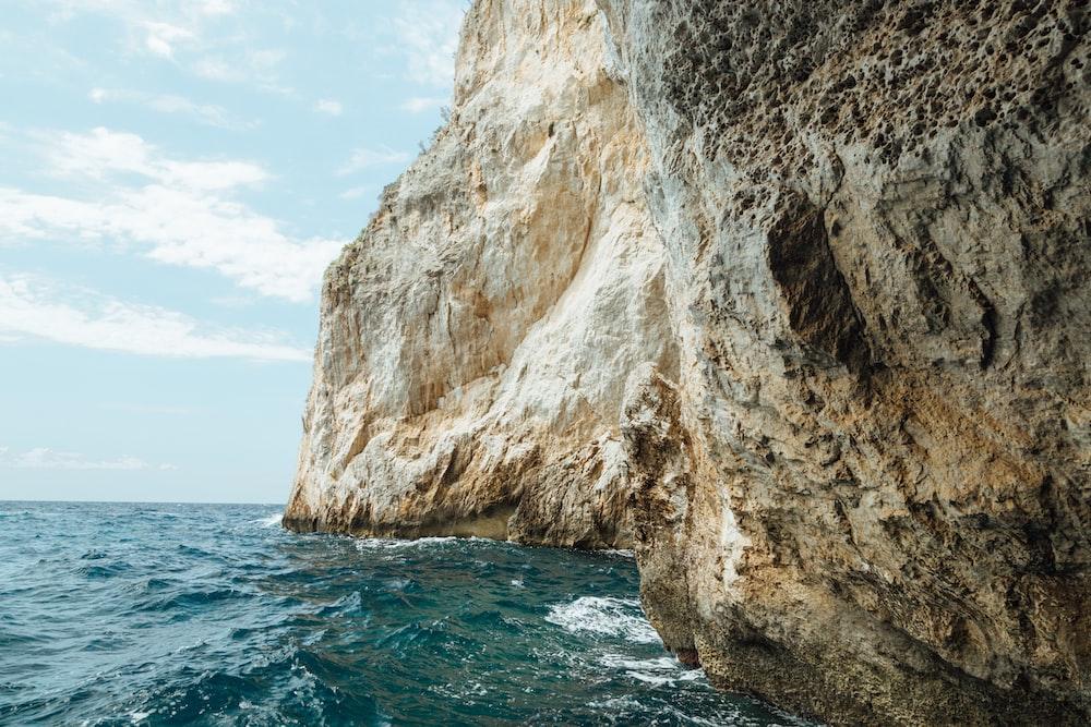 ocean near cliff