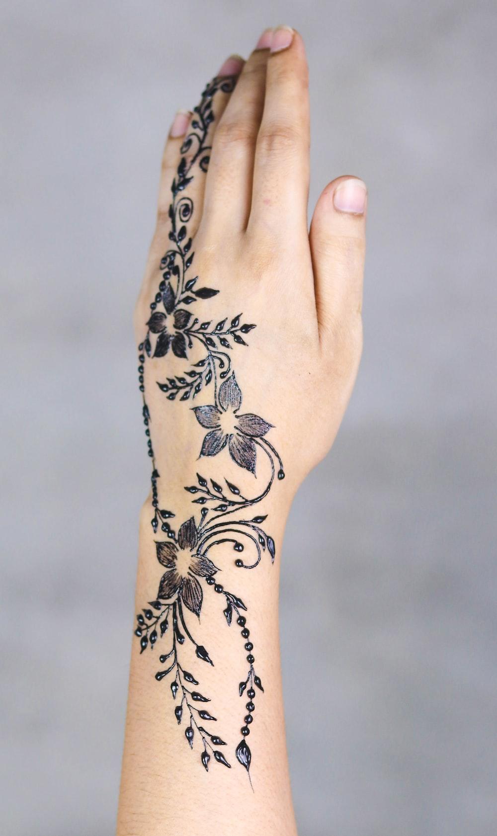 person's mandala tattoo