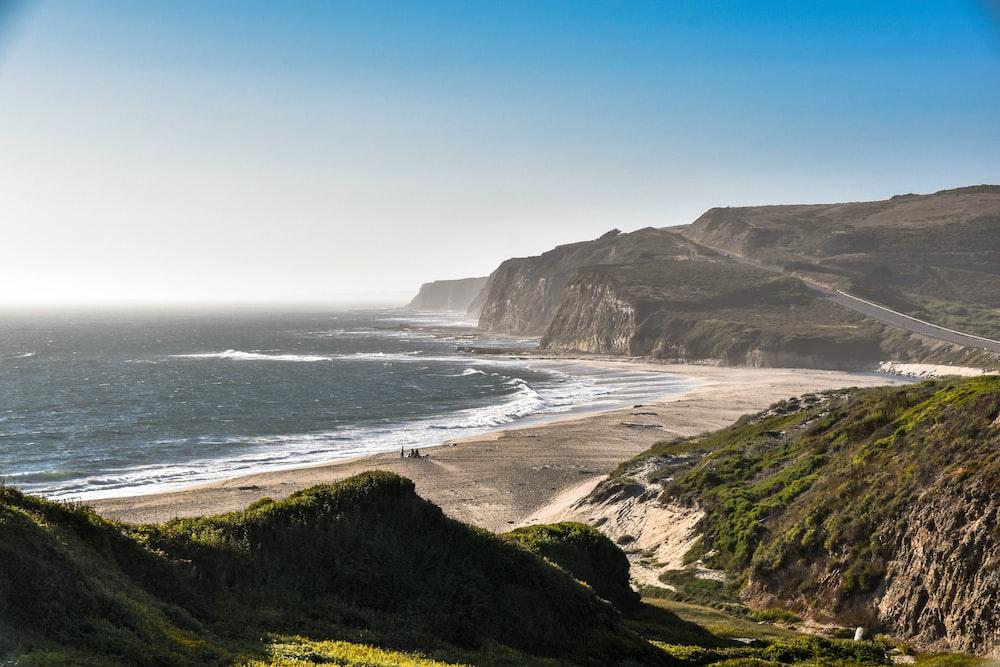 landscape photography of seacoast