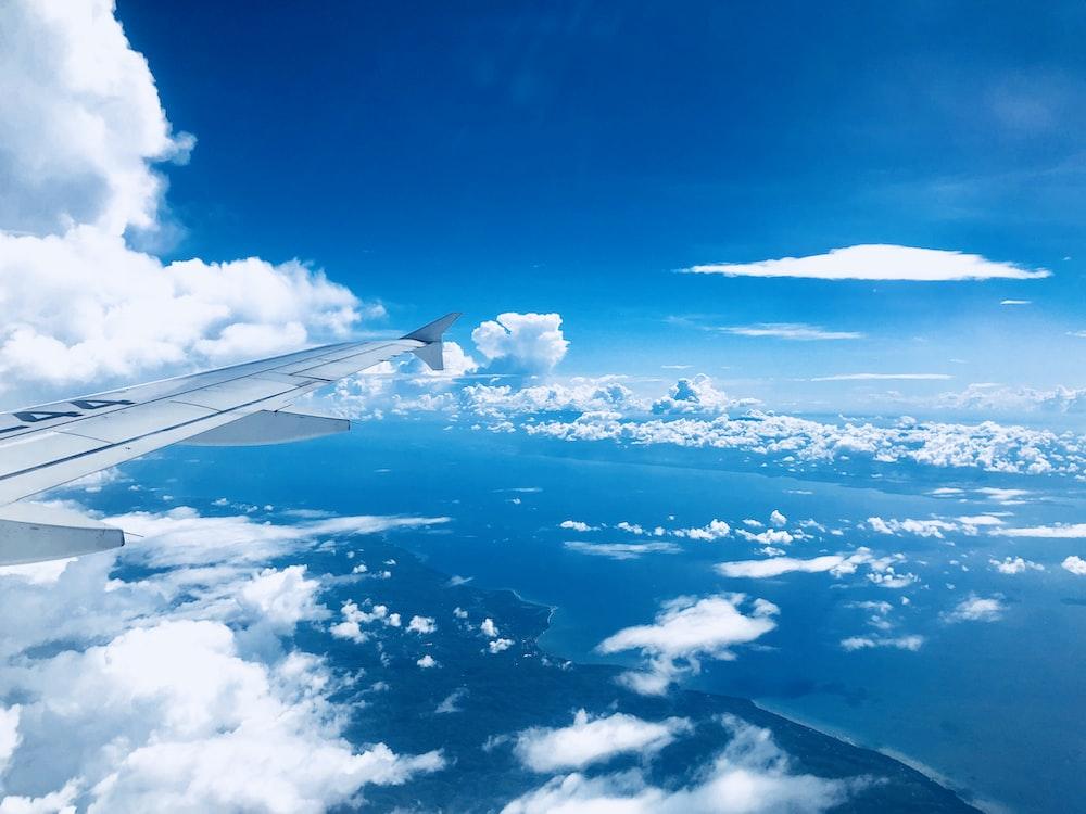 airplane wings on mid air