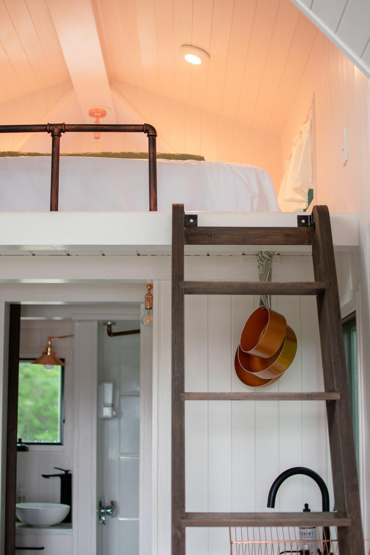 brown wooden ladder