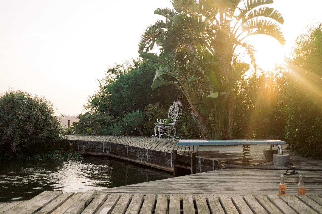 Hollywood Hils Home Pool Golden Hour Background Plate  http://agroism.com